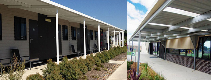 Covered Walkways, Awnings, Shelters and COLA's